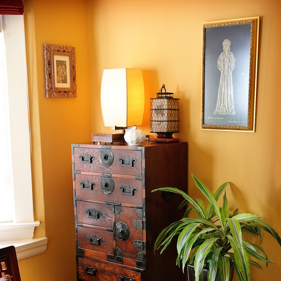 orange living room schemes small with tv in corner 7 color ideas that warm up your space | martha ...