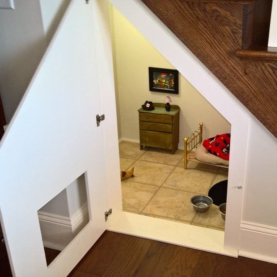 See How This Woman Built a Room Under the Stairs For Her Dog