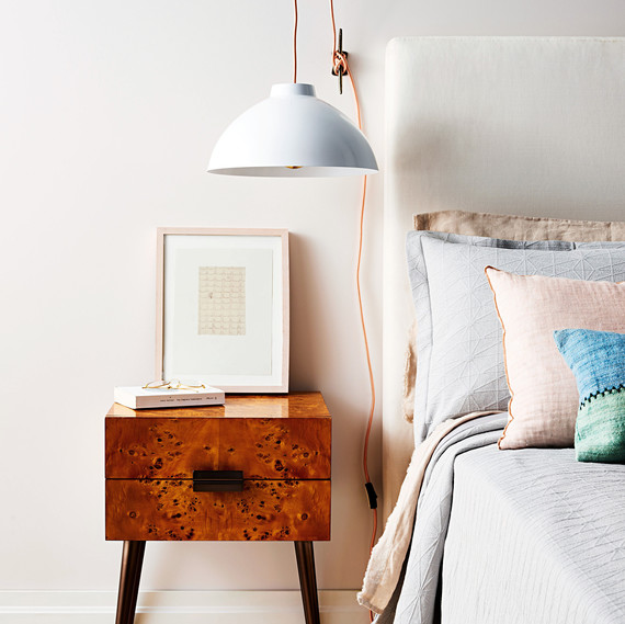 What a Bright Idea: Hanging Bedside Pendant Lamp