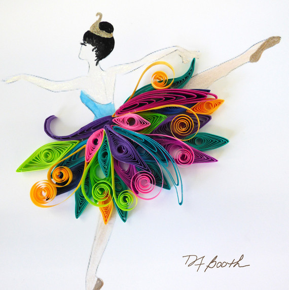 Quilled Paper Evokes Graceful Movement Of These Tiny