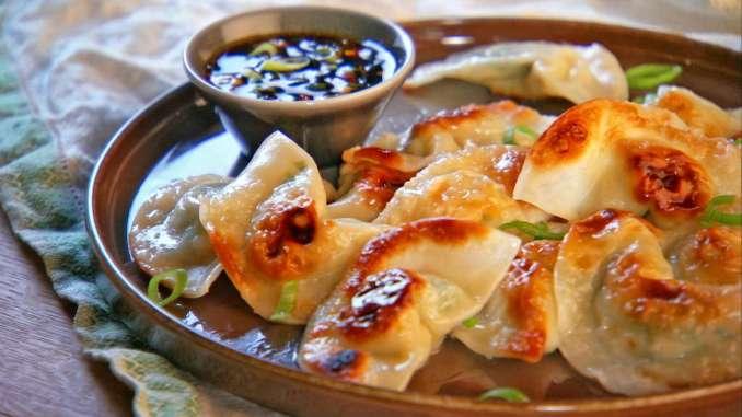 Pot Sticker Dumplings and Soy-Vinegar Sauce Recipe & Video