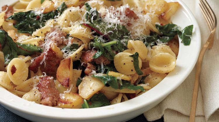 Image result for sausage and swiss chard pasta