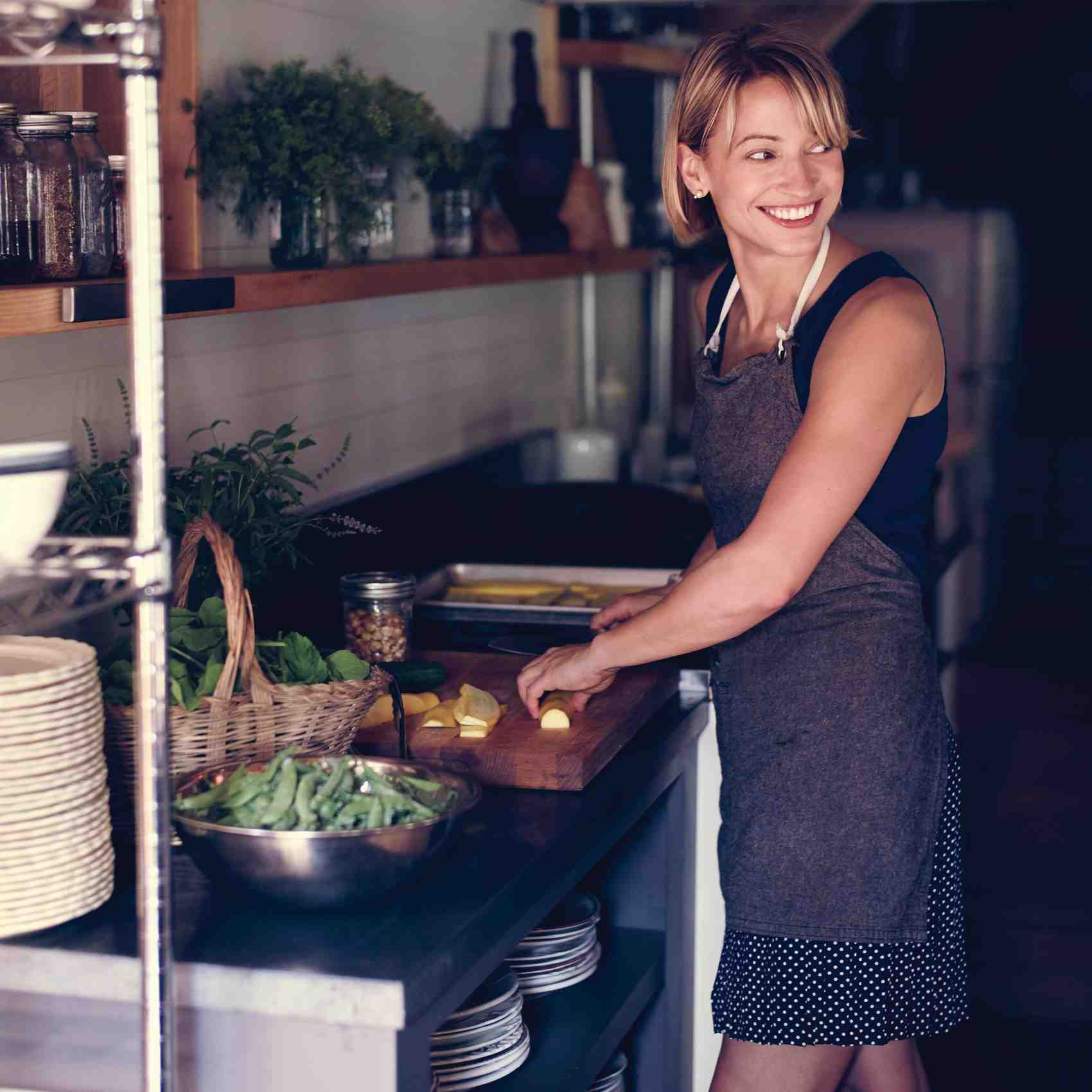 kitchen decor themes one hole faucet chef erin french's farm-to-table dinner party menu ...