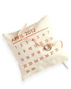 Calendar Ring Pillow Martha Stewart Weddings