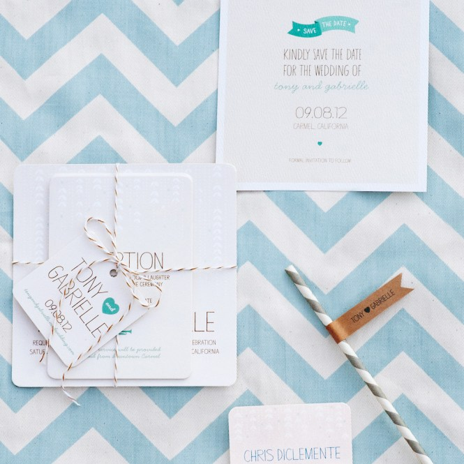 Modern Chevron Wedding Invitations By Meticulous Ink Via Oh So Beautiful Paper 3