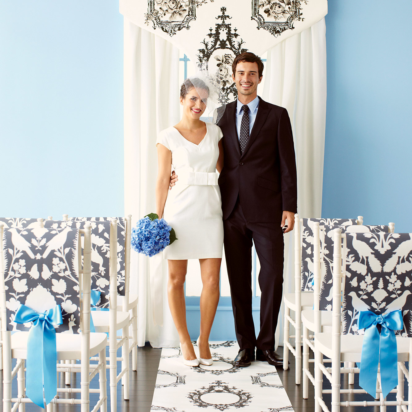 how to make easy chair covers for wedding reclining and ottoman diy decorations using wallpaper martha stewart weddings