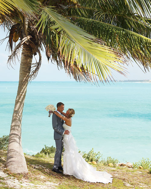 A White And Silver Destination Wedding On The Beach In The