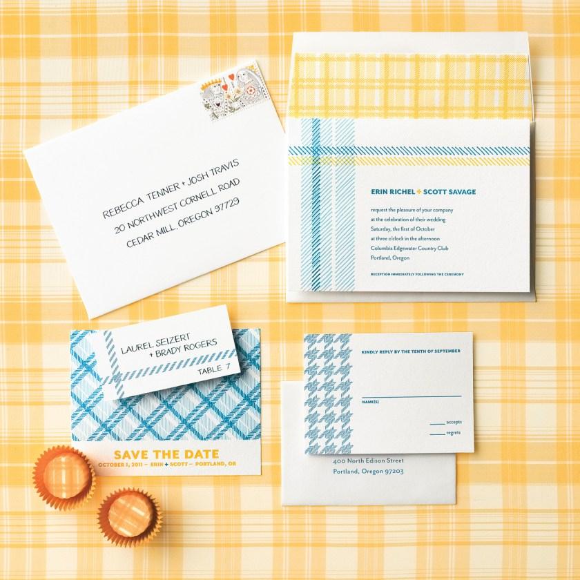 Fabric Inspired Wedding Invitations