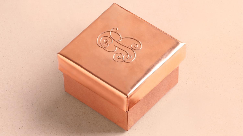Embossed Copper Ring Box Martha Stewart Weddings
