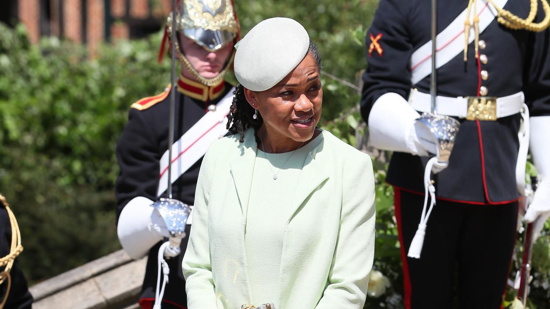 Meghan Markles Mom Doria Ragland Wore the Prettiest Green MotheroftheBride Dress to the