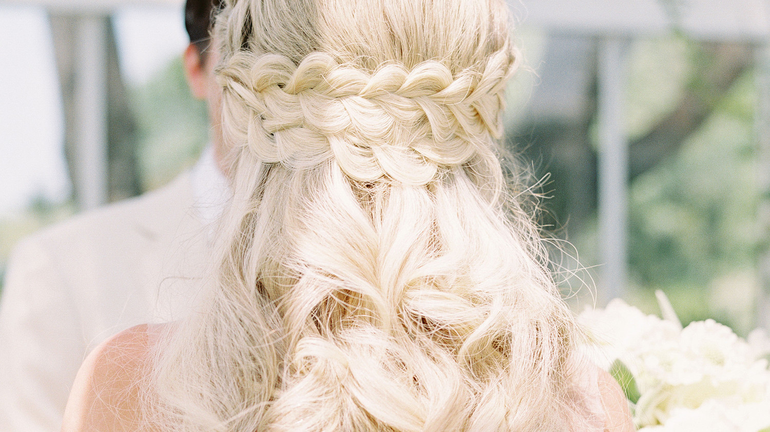 28 HalfUp HalfDown Wedding Hairstyles We Love  Martha Stewart Weddings