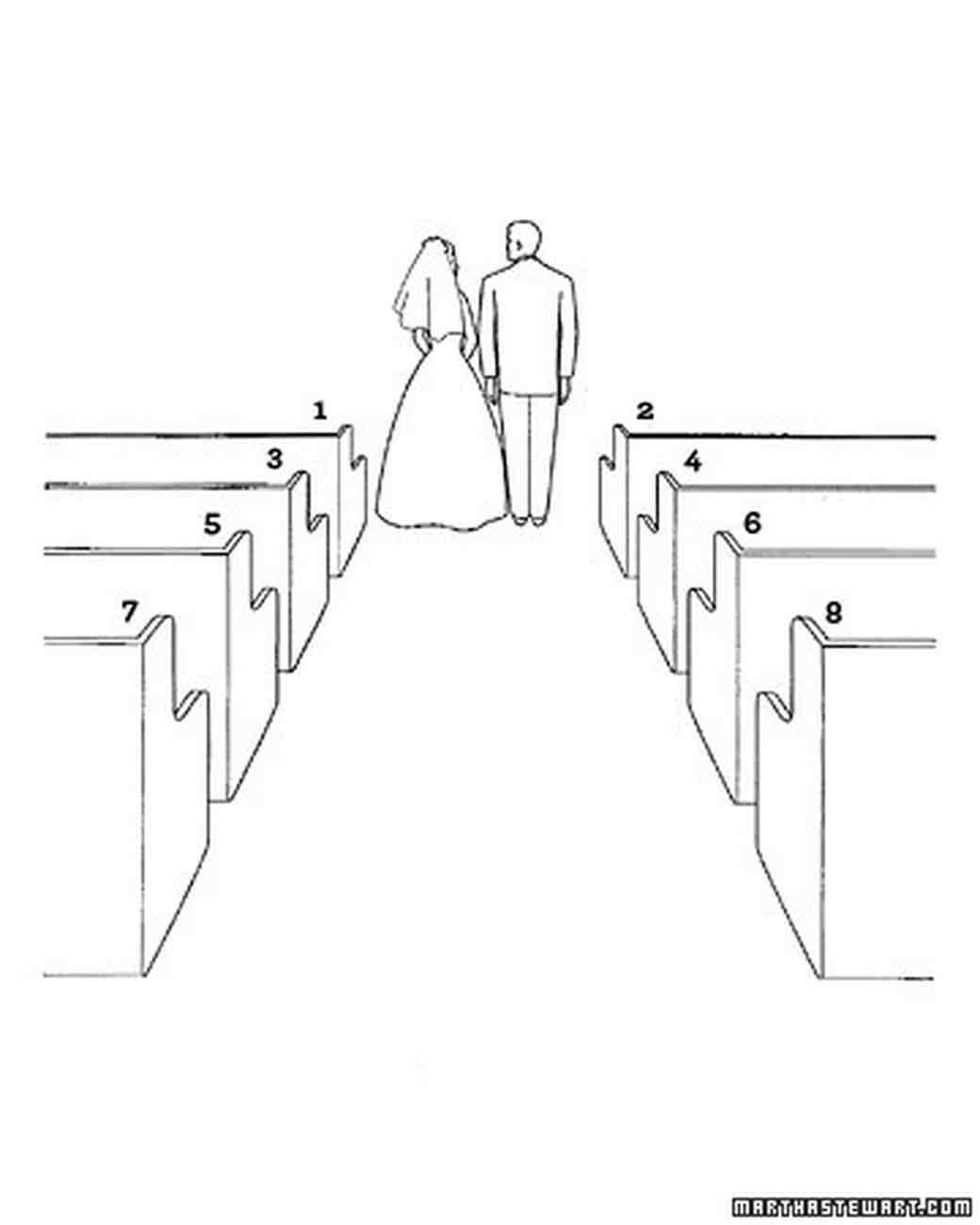 Seating at  christian ceremony also diagram your big day wedding basics martha rh marthastewartweddings