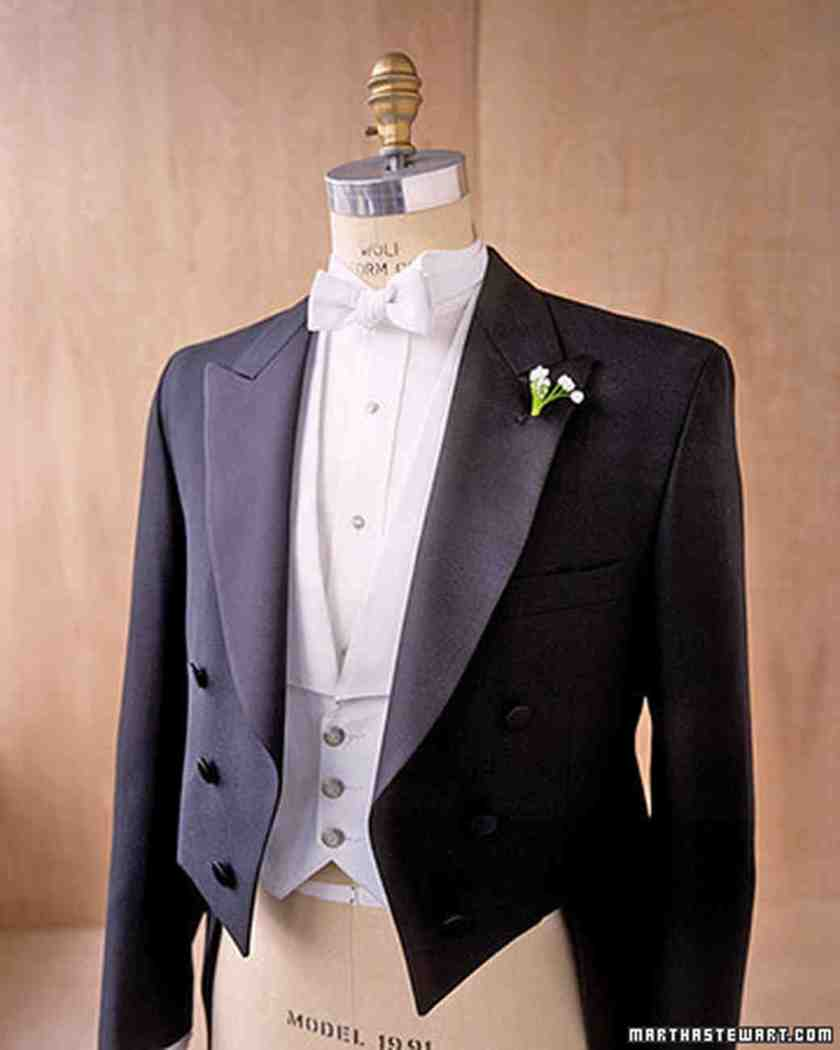 White Tie The Most Formal Attire For A Wedding