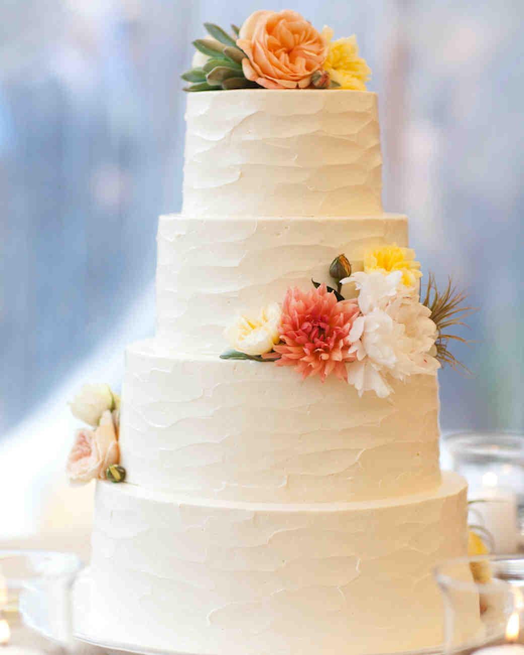 White Wedding Cakes Make Case Classic Martha Stewart Weddings