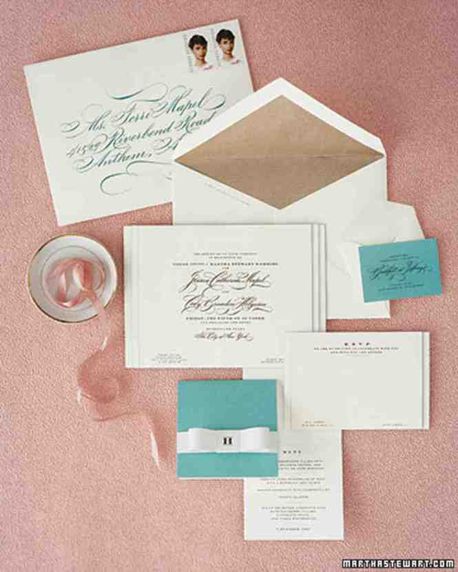 Letterpress Calligraphy Wedding Invitation With Joint Host Wording