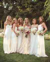 10 Bridal Parties Wearing White At Real Weddings | Martha ...