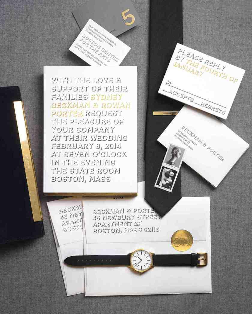 Wedding Invitations Inspired By Our Favorite Fashion Trends Martha Stewart Weddings