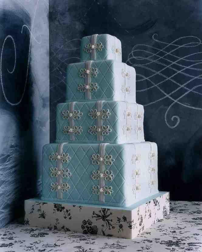 Vibrant Flower Topped Wedding Cake