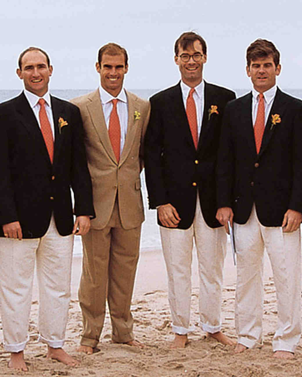 Navy Beach Wedding Groomsmen