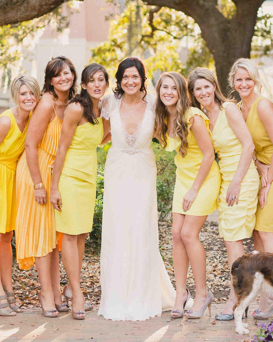 Wedding Yellow Bridesmaid Dresses