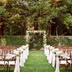 White Chairs For Wedding Drop Leaf Table With Hidden Folding A Formal Outdoor Destination In Napa California