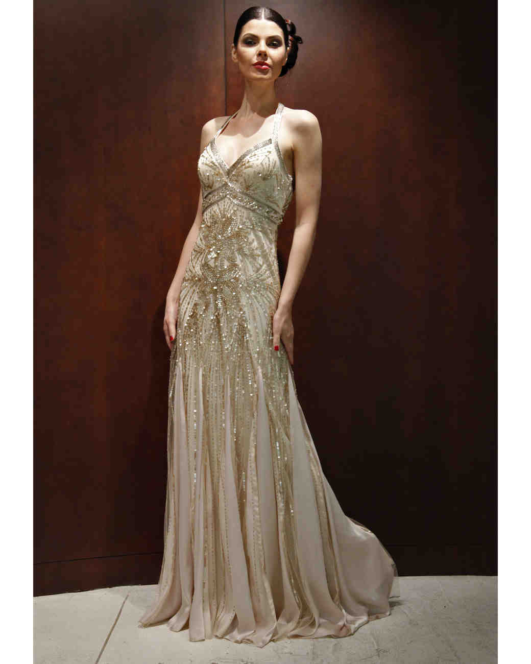 Gold Sue Wong Wedding Dress