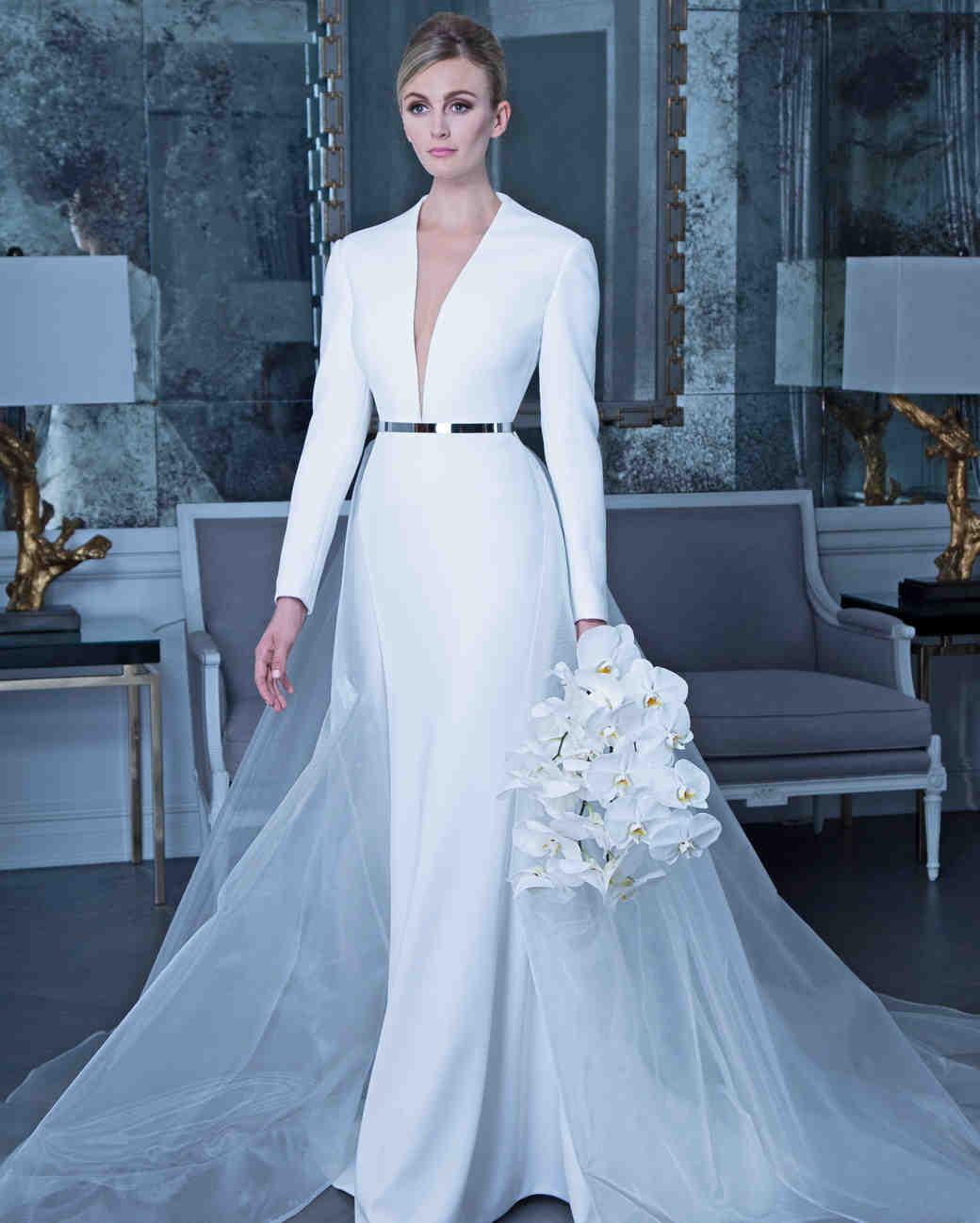 LongSleeved Wedding Dresses We Love  Martha Stewart Weddings
