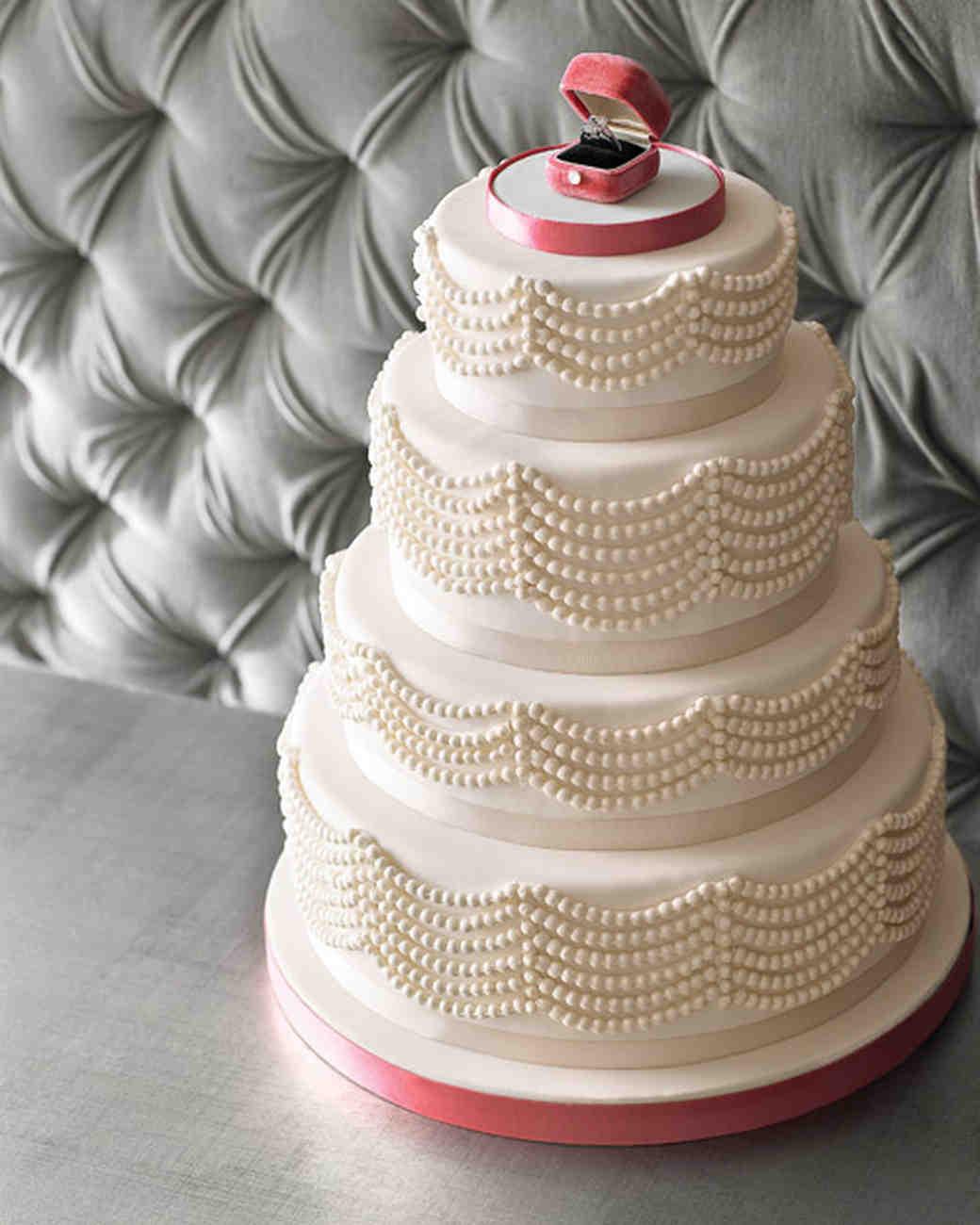 Bejeweled Wedding Cakes Martha Stewart Weddings