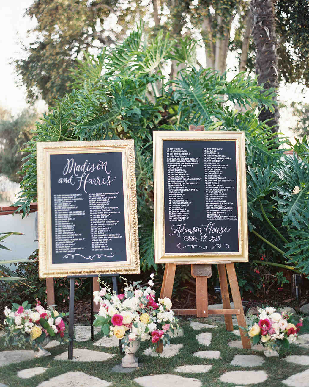 hight resolution of elegant gold framed chalkboard seating chart