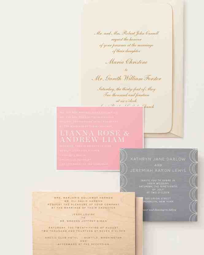 Simple Wedding Invitation Wording For A Attractive Design With Layout 2