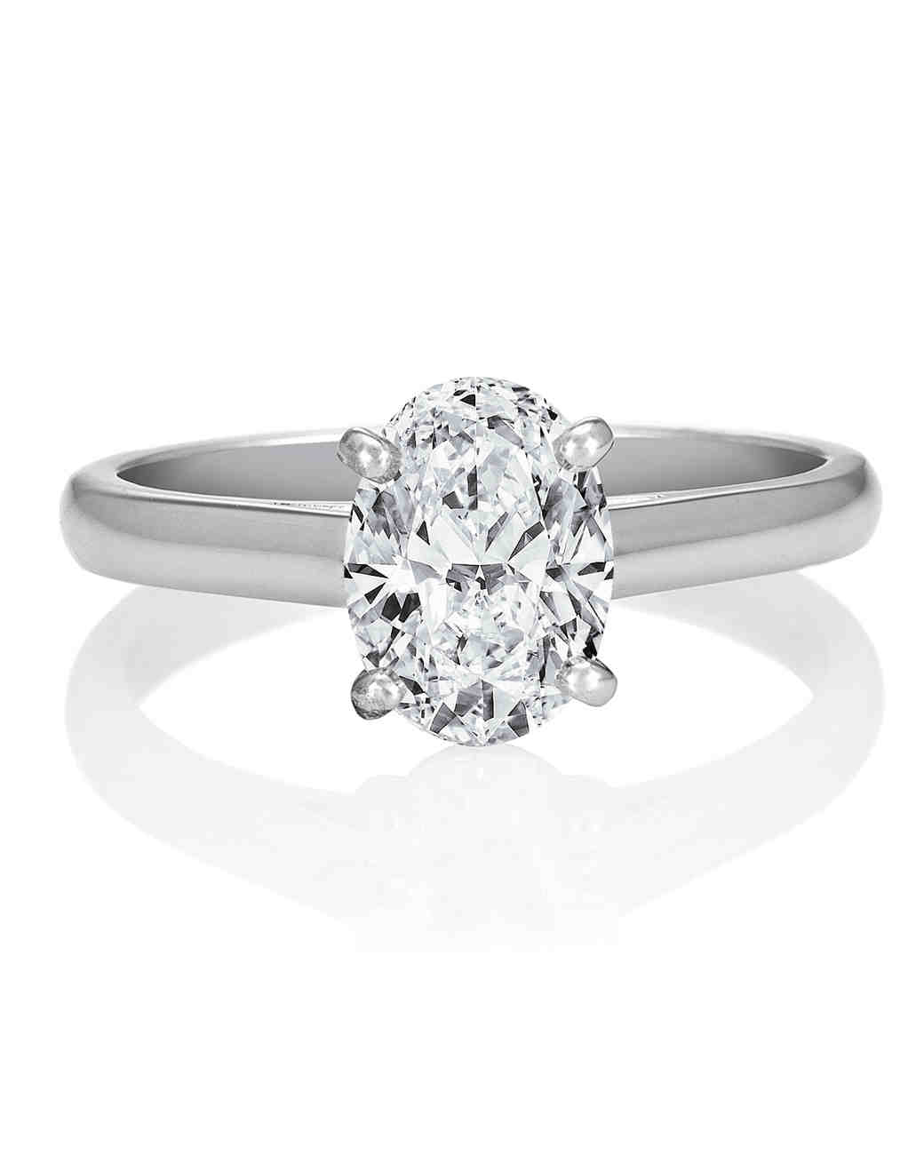 Oval Engagement Rings for the BridetoBe  Martha Stewart