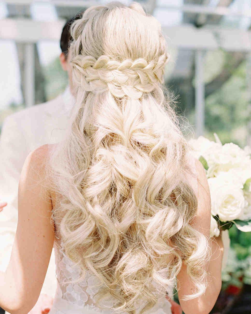 28 HalfUp HalfDown Wedding Hairstyles We Love  Martha Stewart Weddings