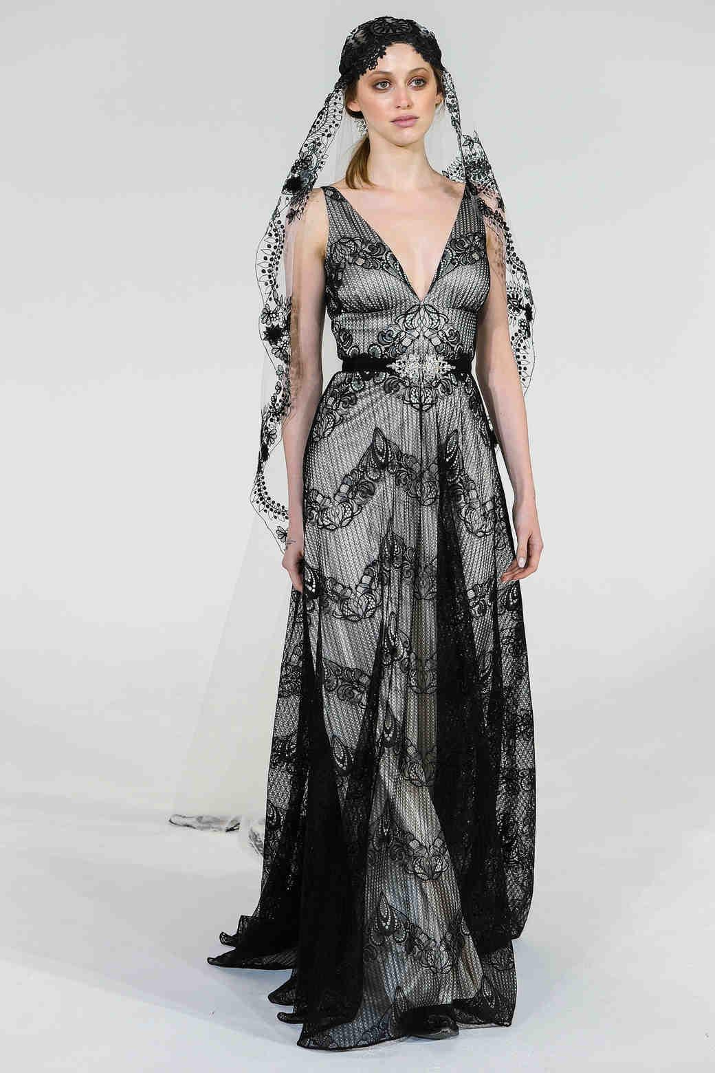 Chic black wedding dress for the edgy bride martha stewart weddings