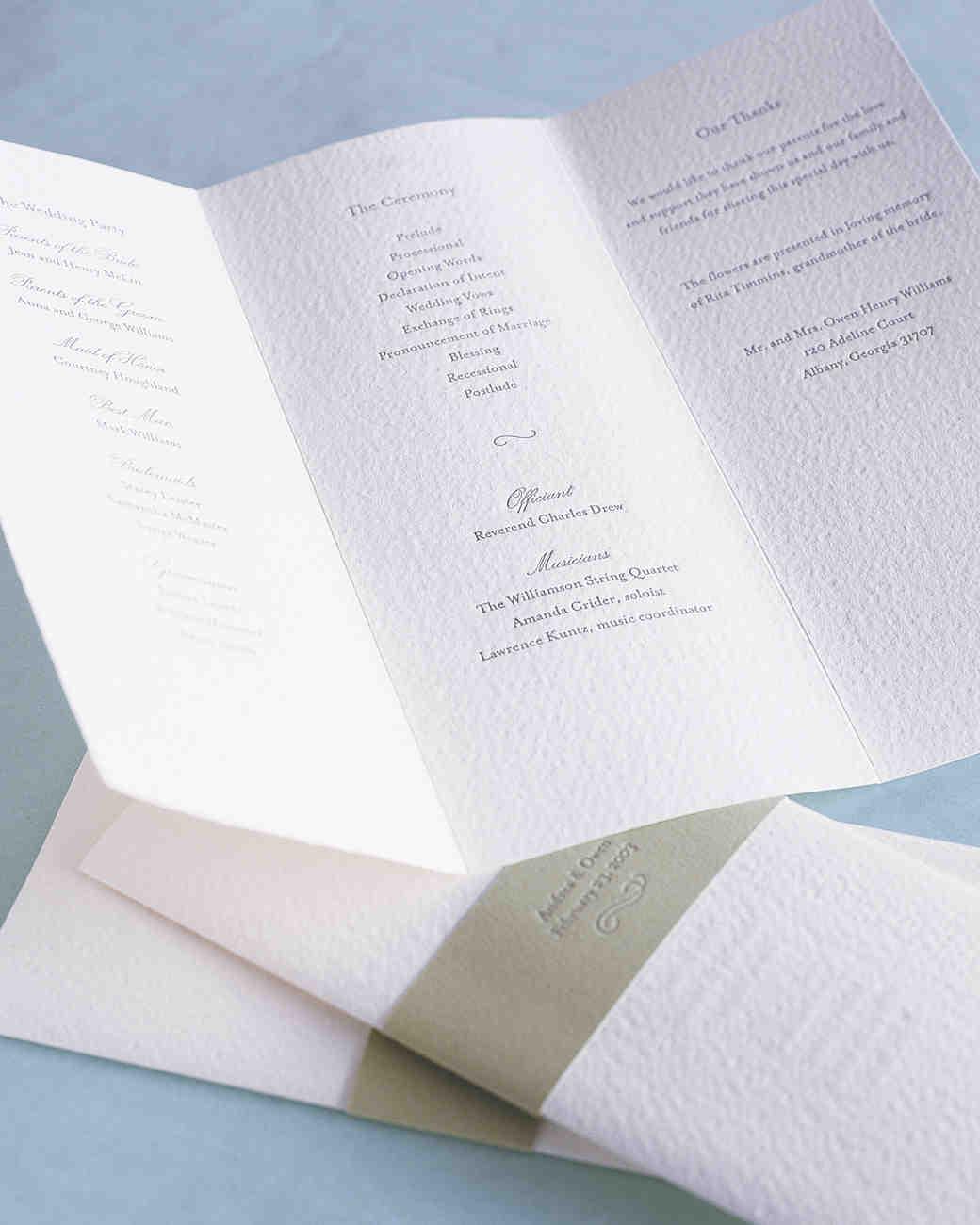 25 Ways to Upgrade Your DIY Wedding Programs  Martha
