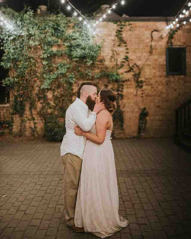 brewery wedding venues outdoors couple kiss