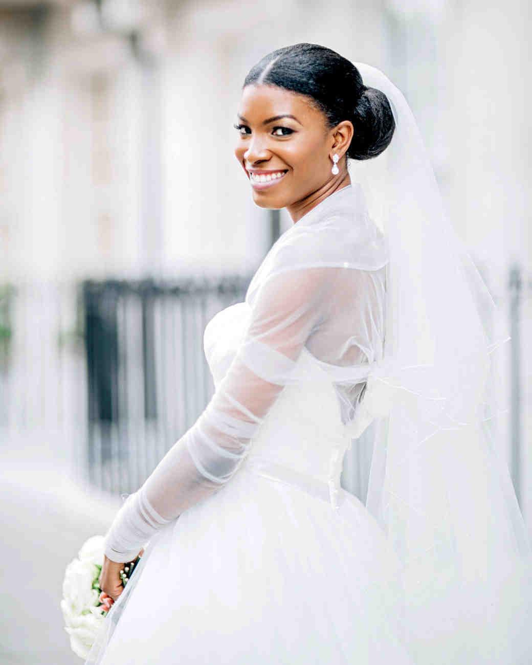 Best Hairstyles for a Wedding Dress Illusion Neckline