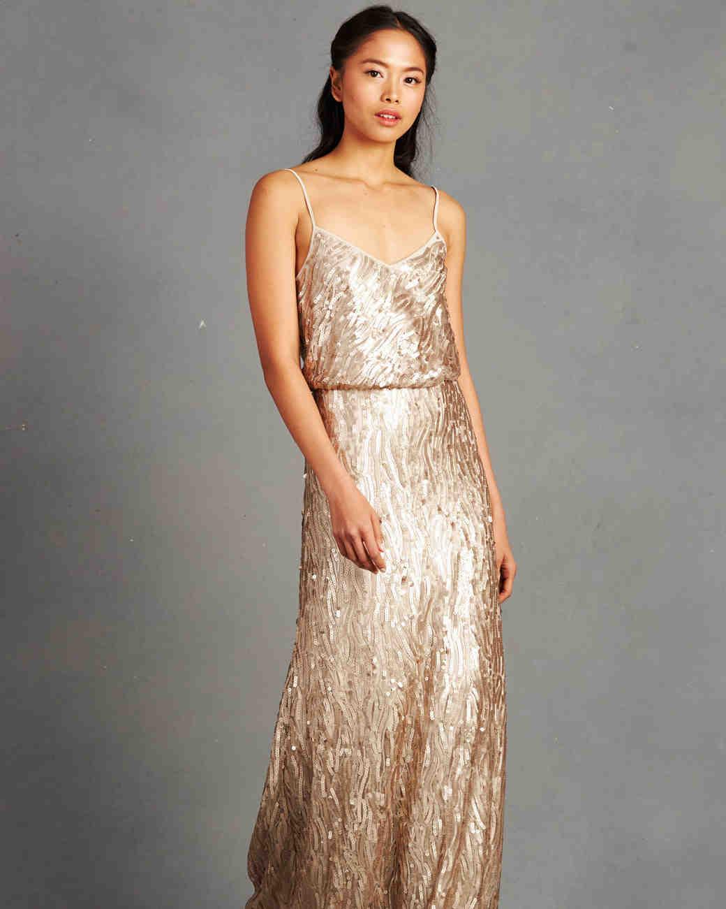 Gold Bridesmaid Dresses  Martha Stewart Weddings