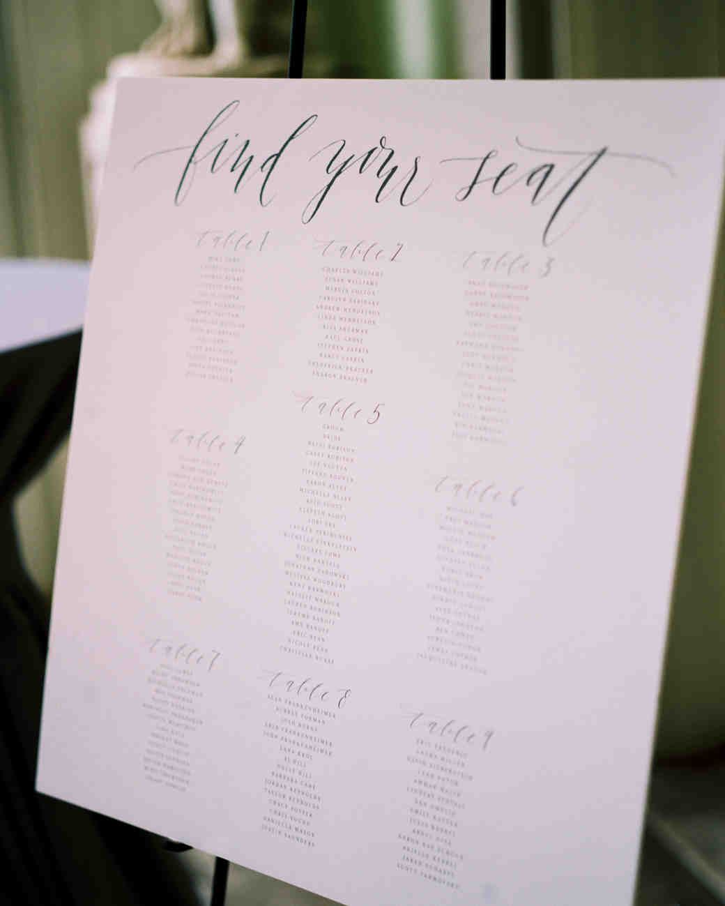 Wedding seating chart also how to make  rh marthastewartweddings