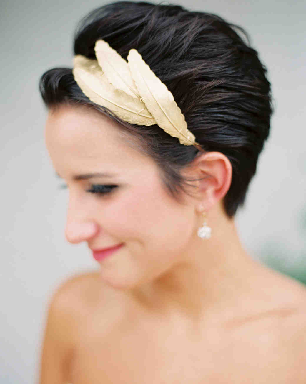 chic wedding hairstyles short