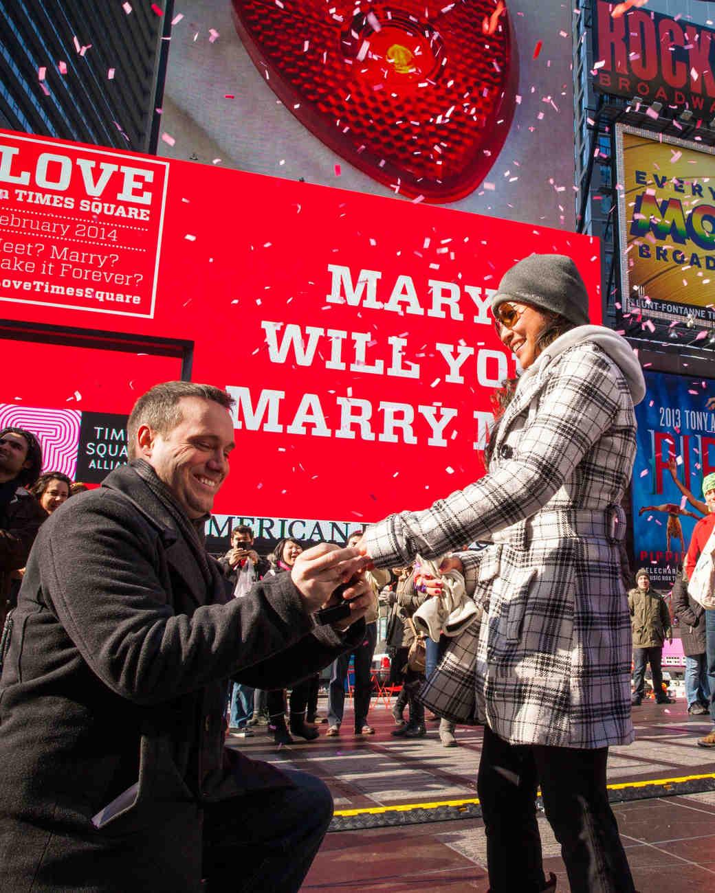 Times Square Proposal Wedding