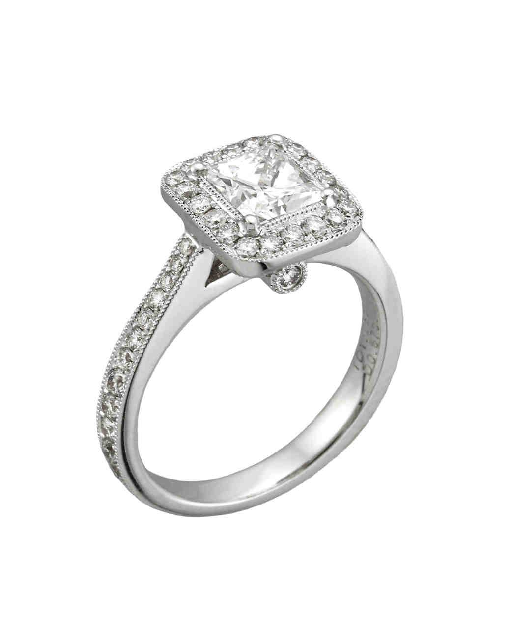 princess-cut diamond engagement