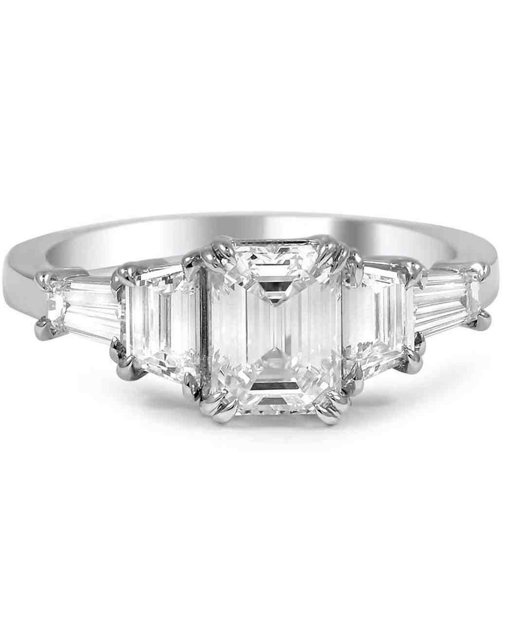 Elegant EmeraldCut Engagement Rings  Martha Stewart Weddings