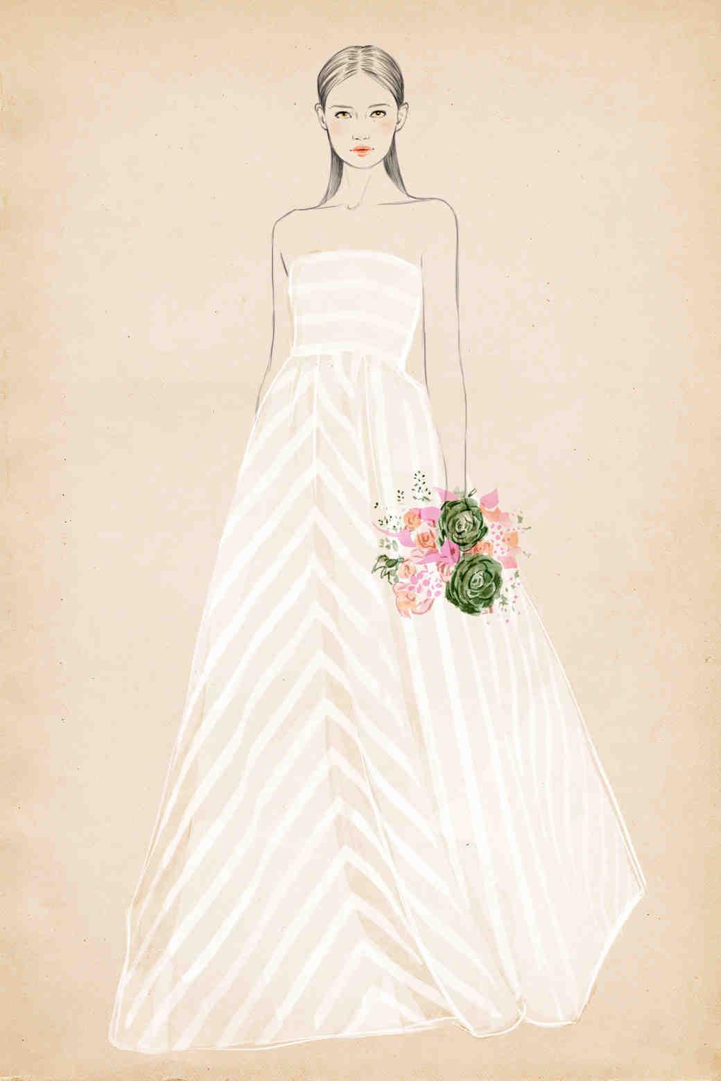 Learn Your Dress Silhouettes  Martha Stewart Weddings