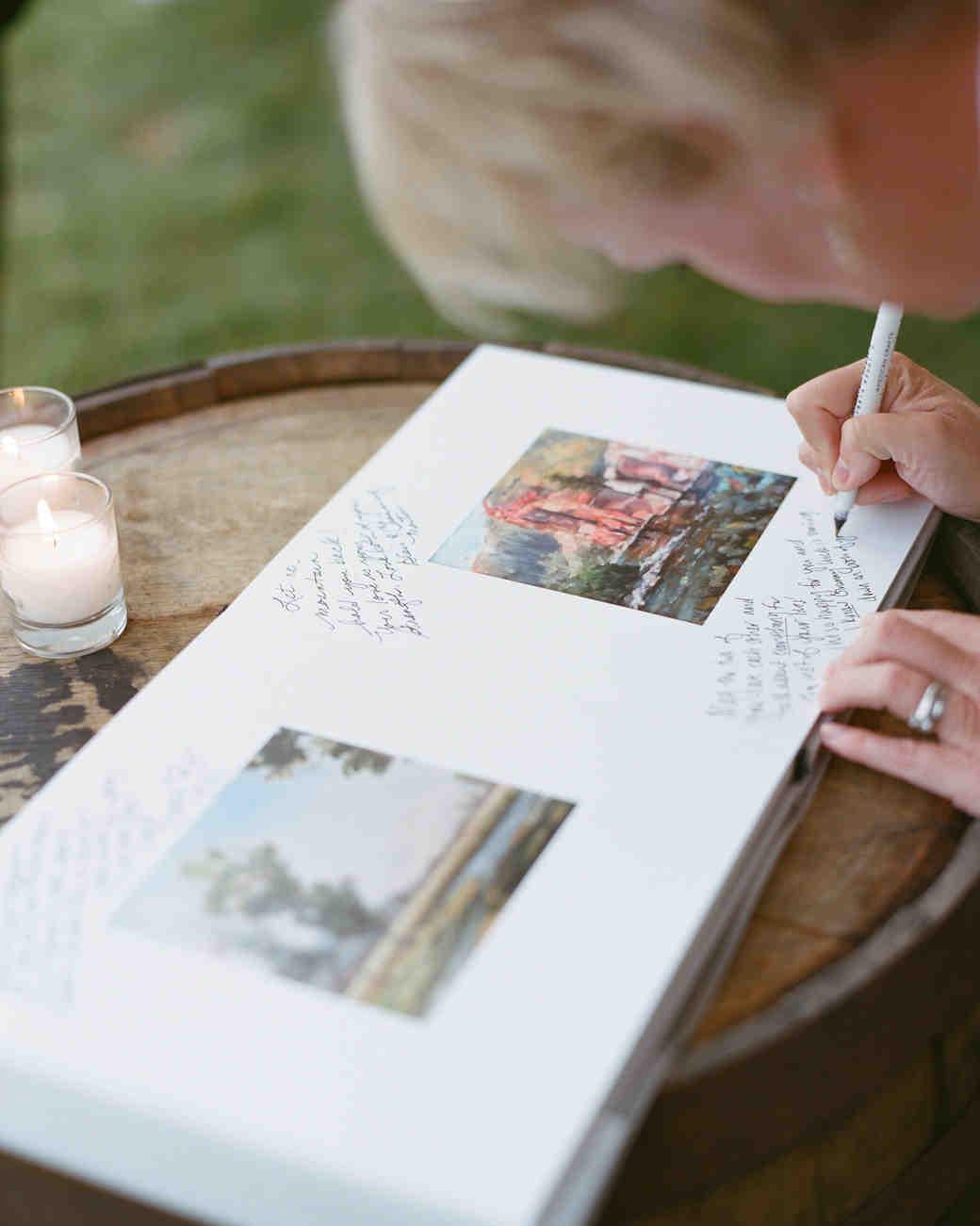 46 Guest Books from Real Weddings  Martha Stewart Weddings