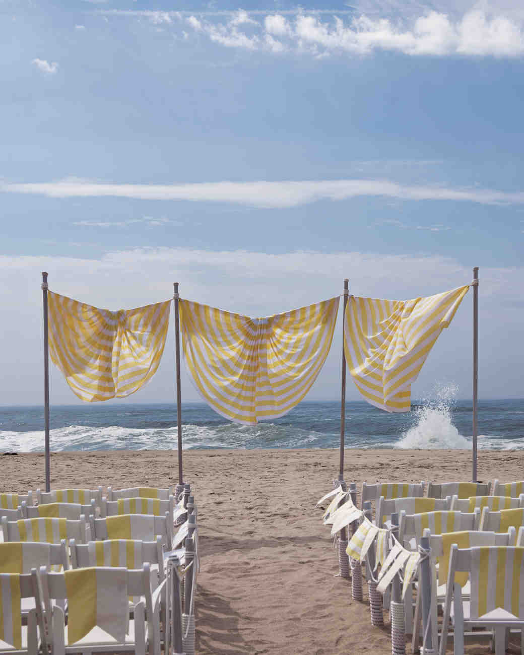beach wedding chair decoration ideas siesta high outdoor decorations that are easy to diy martha