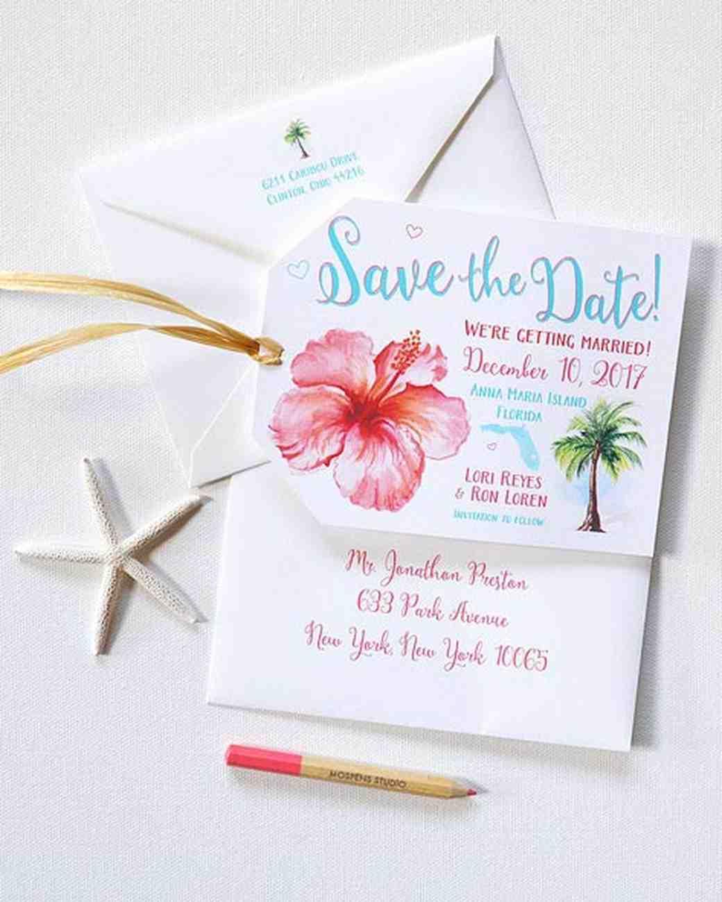 32 Destination Wedding SavetheDates  Martha Stewart