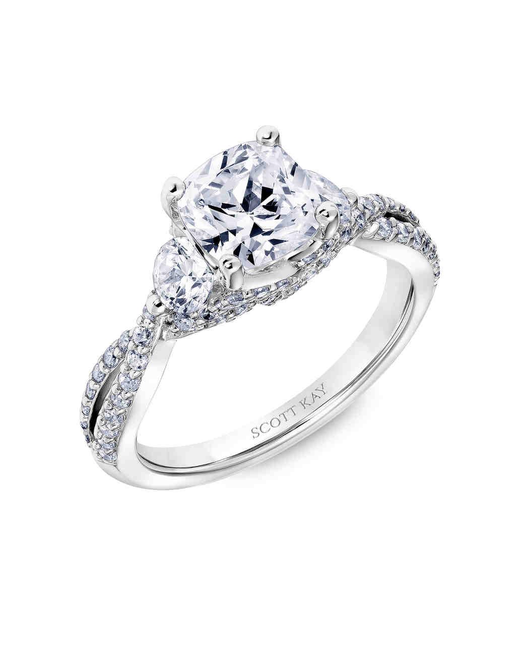 CushionCut Diamond Engagement Rings  Martha Stewart Weddings