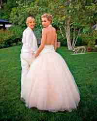 Celebrity Brides Who Wore Pink Wedding Dresses | Martha ...