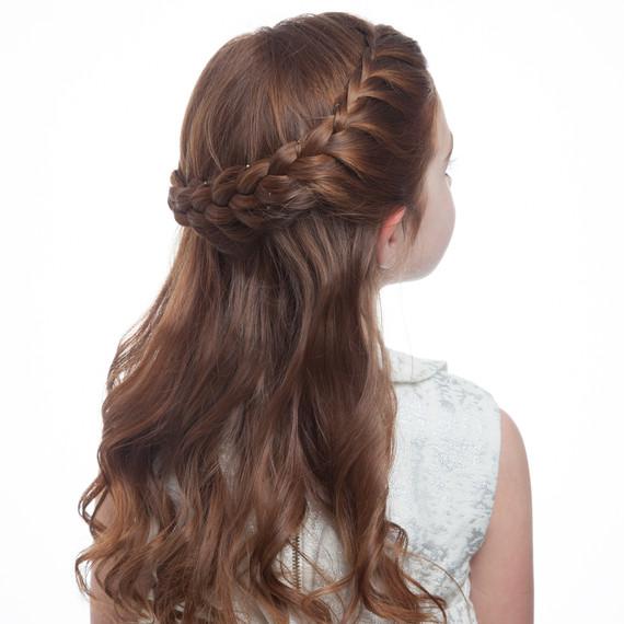 flower girl braided