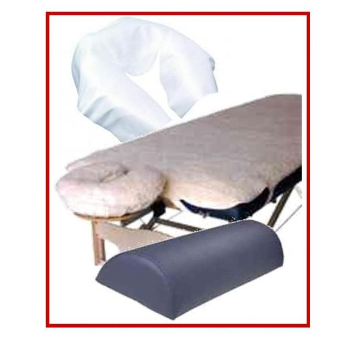 chair massage accessories will folding covers fit banquet chairs table fleece pad set neck bolster and disposable headrest 3 piece